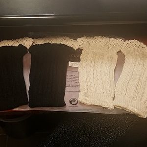 Accessories - 2 pair tan and black boot cuffs